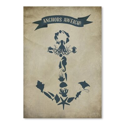 Americanflat Anchors Aweigh 4 Graphic Art on Canvas