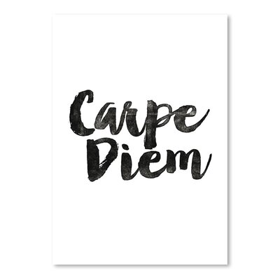 Americanflat Carpe Diem Typography Wrapped on Canvas