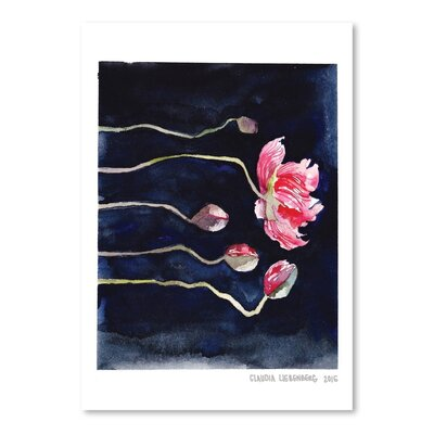 Americanflat Blooms on Black 3 Art Print Wrapped on Canvas