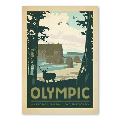 Americanflat Olympic National Park Vintage Advertisement Wrapped on Canvas