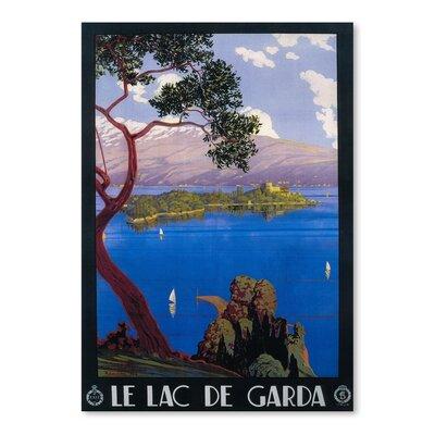 Americanflat Le Lac De Garda Vintage Advertisement