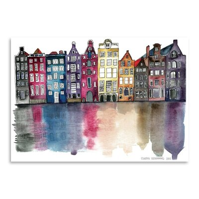Americanflat Amsterdam Art Print Wrapped on Canvas