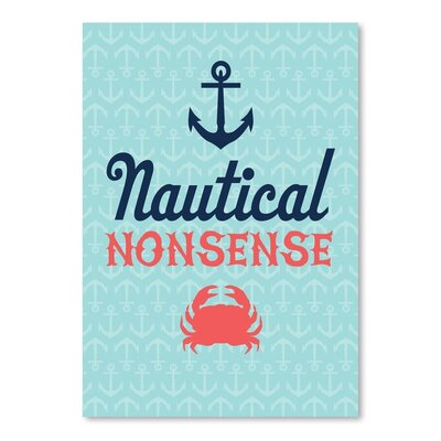 Americanflat Nautical Nonsense Graphic Art Wrapped on Canvas