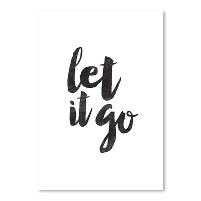 Americanflat Let It Go Typography Wrapped on Canvas