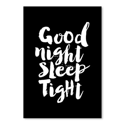 Americanflat Good Night Sleep Tight Typography Wrapped on Canvas
