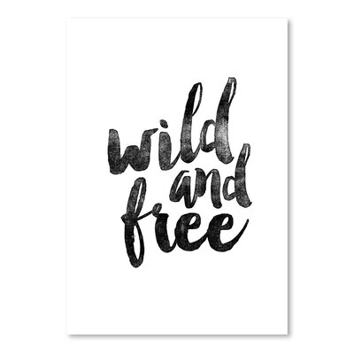 Americanflat Wild and Free Typography on Canvas