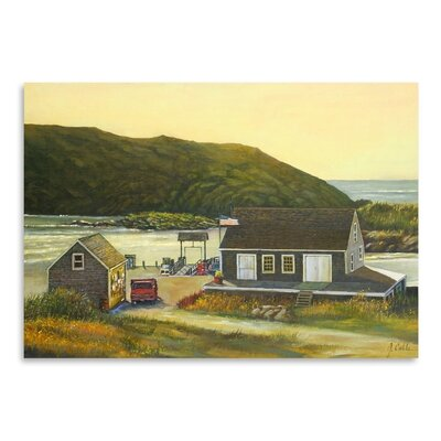 Americanflat Monhegan Wharf Graphic Art Wrapped on Canvas