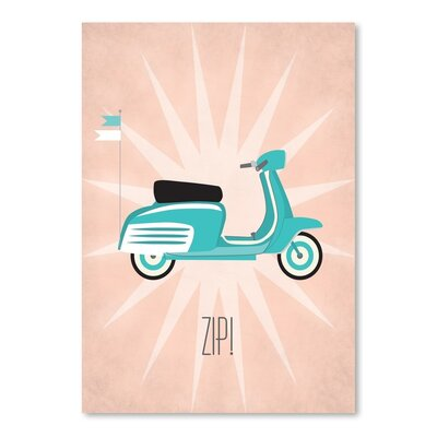 Americanflat Vintage Scooter1 Graphic Art Wrapped on Canvas