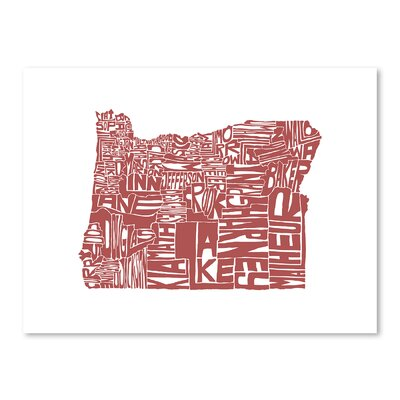 Americanflat Oregon Typography on Canvas