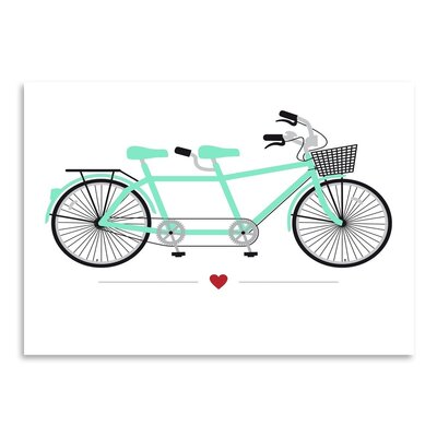 Americanflat Tandem Bike Graphic Art Wrapped on Canvas