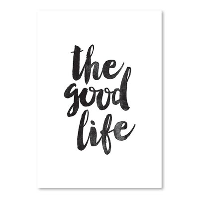 Americanflat The Good Life Typography on Canvas