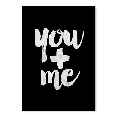 Americanflat You + Me Typography in White