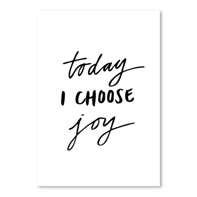 Americanflat Today I Choose Joy Typography