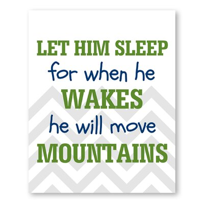 Americanflat He Will Move Mountains Typography on Canvas