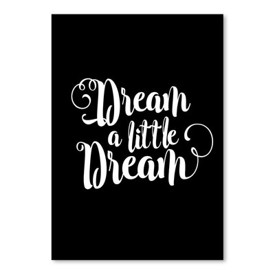 Americanflat Dream A Little Dream Typography