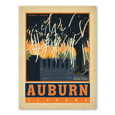 Americanflat Asa Auburn Vintage Advertisement Wrapped on Canvas