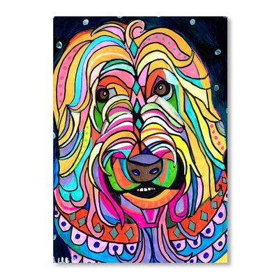 Americanflat Wheaten Terrier Art Print Wrapped on Canvas