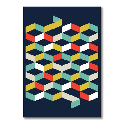 Americanflat Abstract Graphic Art on Canvas