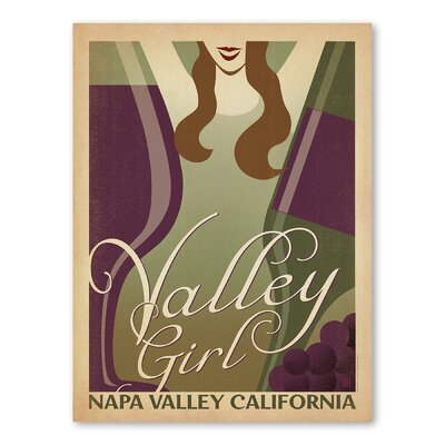 Americanflat Valley Girl Vintage Advertisement Wrapped on Canvas