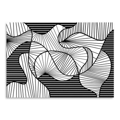 Americanflat Warped Lines Graphic Art Wrapped on Canvas