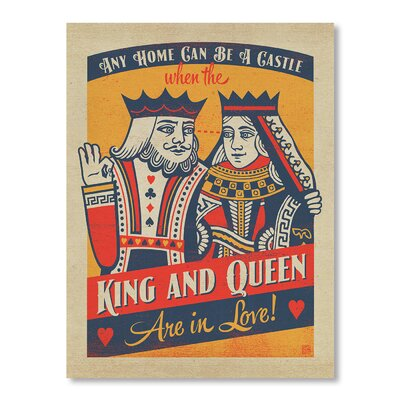 Americanflat King And Queen Vintage Advertisement on Canvas