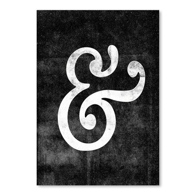 Americanflat Ampersand Swirl Graphic Art Wrapped on Canvas