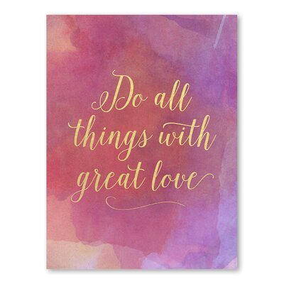 Americanflat Do All Things Typography Wrapped on Canvas