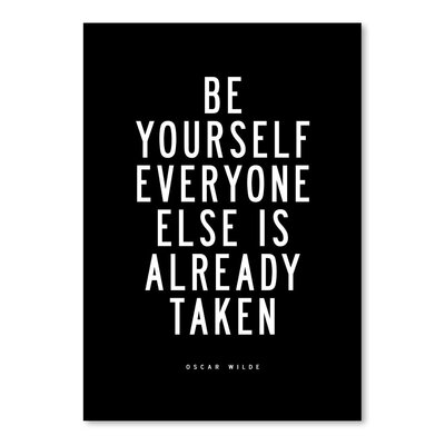 Americanflat Be Yourself Everyone Else is Taken Typography on Canvas