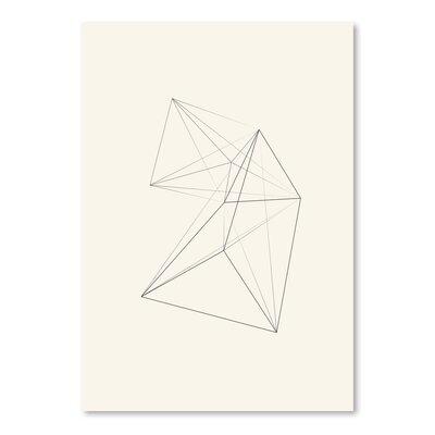 Americanflat Chalk Sketch Triangles Graphic Art in Beige