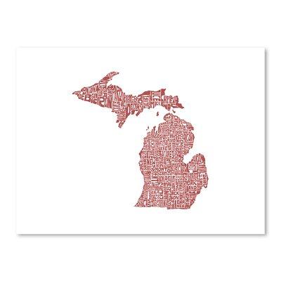 Americanflat Michigan 2015 Graphic Art