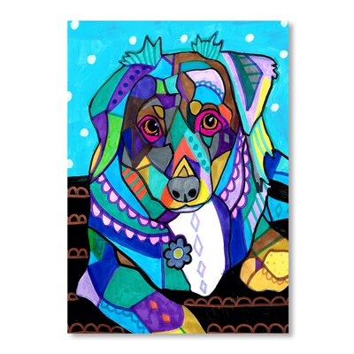 Americanflat Australian Shepherd Mini Art Print Wrapped on Canvas