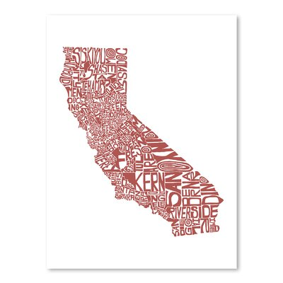 Americanflat California 2015 Typography on Canvas