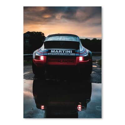 Americanflat Martini Porsche Photographic Print Wrapped on Canvas
