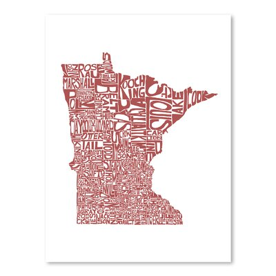 Americanflat Minnesota 2015 Typography Wrapped on Canvas