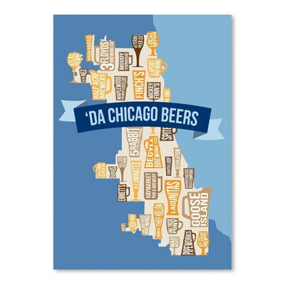 Americanflat Chicago Beers Vintage Advertisement Wrapped on Canvas