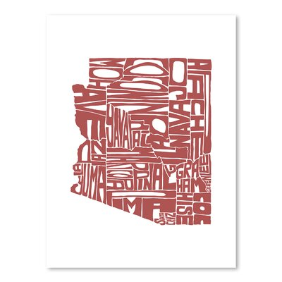 Americanflat Arizona Typography Wrapped on Canvas