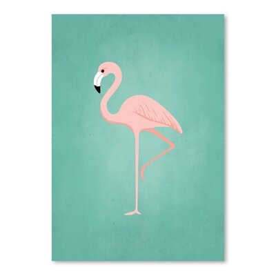 Americanflat PalmSprints Flamingo Graphic Art Wrapped on Canvas