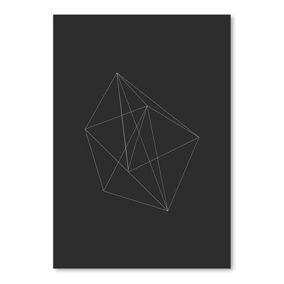 Americanflat Chalk Sketch Prism Graphic Art in Black