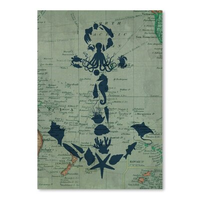 Americanflat Map Anchor Graphic Art