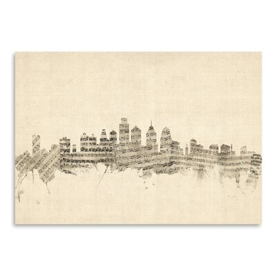 Americanflat Philadelphia Graphic Art Wrapped on Canvas