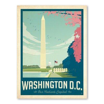 Americanflat Asa Washington DC 1003 Vintage Advertisement Wrapped on Canvas