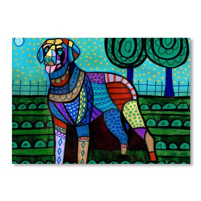 Americanflat Curly Coated Retriever Art Print Wrapped on Canvas
