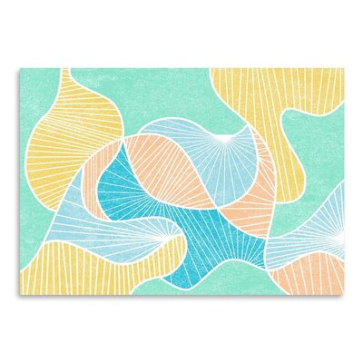 Americanflat Warped Lines Color Graphic Art