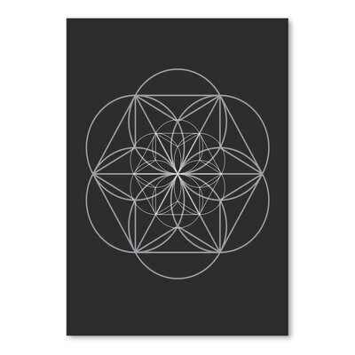 Americanflat Chalksketch Circles Graphic Art Wrapped on Canvas