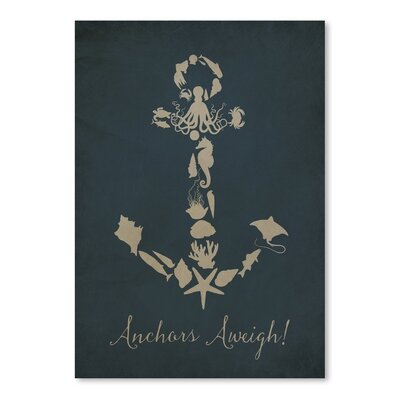 Americanflat Anchors Aweigh 6 Graphic Art Wrapped on Canvas