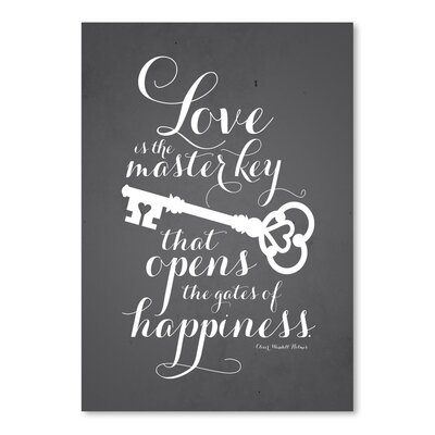 Americanflat LoveKey Typography Wrapped on Canvas