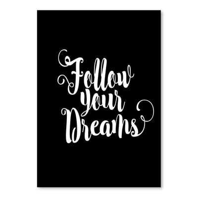 Americanflat Follow Your Dreams Typography