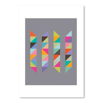 Americanflat Harlequin 5 Graphic Art Wrapped on Canvas