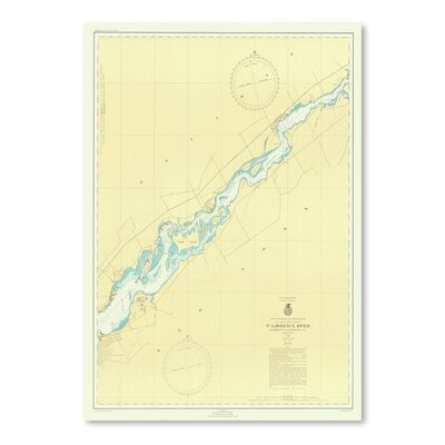Americanflat St. Lawrence River Map Graphic Art