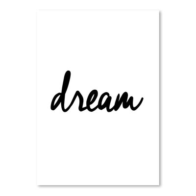 Americanflat Dream Typography Wrapped on Canvas